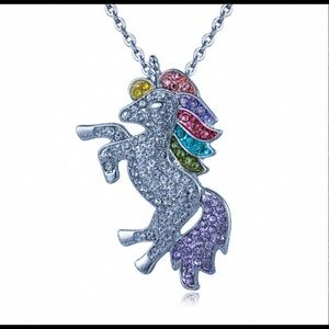 🦄 925 Sterling Silver Rainbow Unicorn Necklace